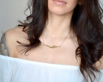 Large Sparrow Necklace - Gold or Silver
