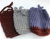 Soap Saver Bag-FREE SHIPPING-Cotton Crochet-Handmade-Soap Cozy Soap On A Rope