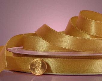 """1/4"""" Satin Ribbon - Old Gold"""