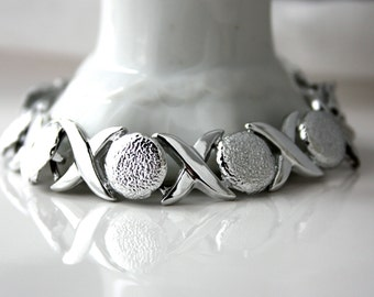 Vintage XO Silvertone Bracelet