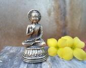 Buddhist Statue Tiny BUDDHA STATUE  Meditation Altar Pocket Statue Deity Statue Zen Gift Buddhist Gift Brass Buddha Statuette Portable Altar