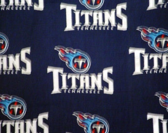 "NFL Football TITANS , Cotton Fabric, 18"" X 58"", 1 /2  YARD, New"
