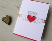 Claddagh Ring Engagement Anniversary Card