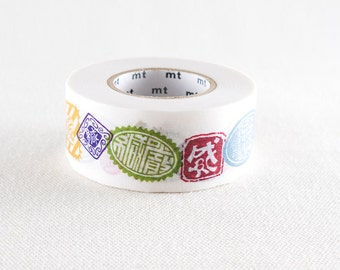 2016 New-mt for PACK Japanese Washi Masking Tape / Stamp Seals 25mm wide 15m long for Packaging, packing, decoration, art projects