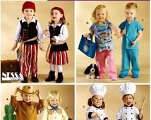 Toddler Scrubs Pattern, Toddler Chef Pattern, Toddler Pirate Pattern, Sz 6 mo to 4 Simplicity Sewing Pattern 3650