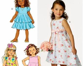Little Girls' Ruffle Dress Pattern - Toddlers' Dress Pattern - Girls' High Low Dress - Butterick Sewing Pattern 6013