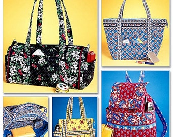 Pre-Quilt Cloth Handbags Pattern - Cloth Bags Pattern - Pre-Quilt Cloth Backpack Pattern - McCall's Sewing Pattern 4118