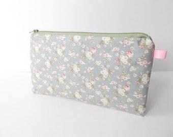 Tilda fabric zippered pencil case