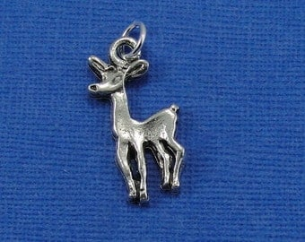 Doe Charm - Silver Plated Doe Charm for Necklace or Bracelet