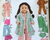 SIMPLICITY 5276      18 inch Doll Clothes    Sleepware, Lingerie, Bathrobe, Pajamas, Sleeveless, Short Sleeves, Long Sleeve, Camisole