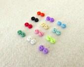 24 pcs Teeny Tiny 4mm Round Buttons - Doll Clothing, Blythe