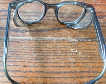 Bouton U-FIT Vintage safety glasses/Steampunk eye glasses/smokey grey/safety shields/protective glasses