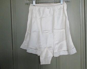 Vintage Silk Tap Pants French Alencon Lace Size Small NOS Bias Cut