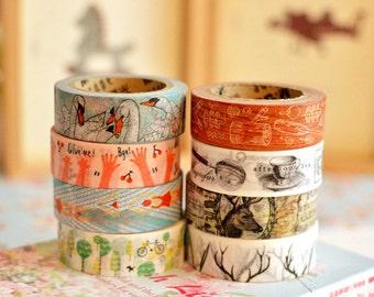 Meetape Cartoon Forest & Deco Washi Masking Tape