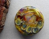 Destash large lampwork glass bead by Pamela Wolfersberger