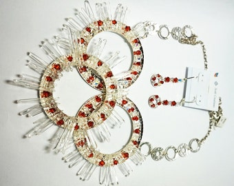 Sunburst - Necklace and Earrings