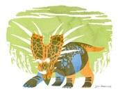 Styrackosaurus - Fine Art Dinosaur Print