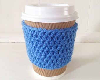 Coffee Cup Sleeve / Coffee Cup Cosy in Blue