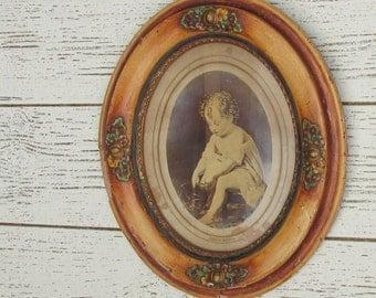 antique oval frame - picture frame - antique - vintage