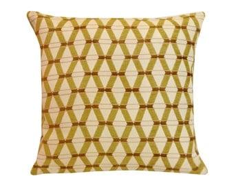 "Bamboo Throw Pillow Cover,  18"" x 18"", Mid-Century Home Decor, Mid-Century Pillows, Designer Fabric, Modern Pillows, Geometric Pillows"