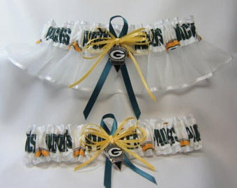 Green Bay Packers handmade wedding garters sports garter