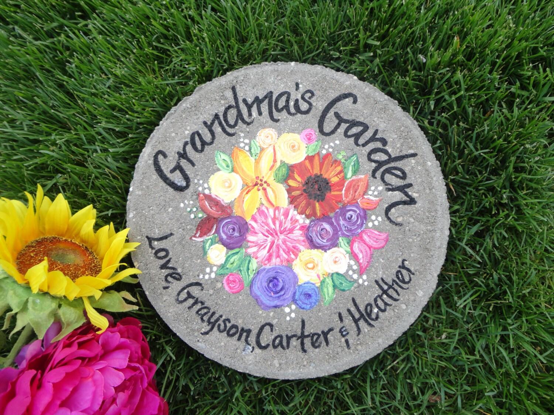 Grandma Garden Grandma Stepping Stone Garden Stone
