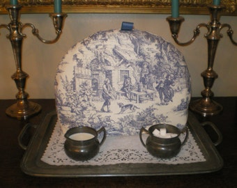 Tea Cozy, English Style, Blue Toile, Warmer, Insulator