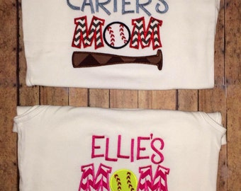 Baseball or Softball Mom Shirt