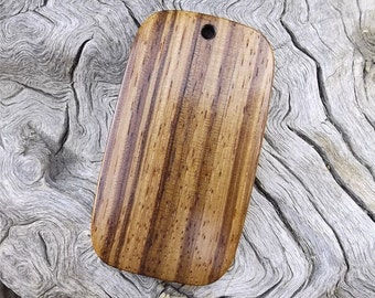 Wooden Pendant - Premium Quality - Handmade With African Zebrawood - Artisan Wooden Jewelry - Jump ring included
