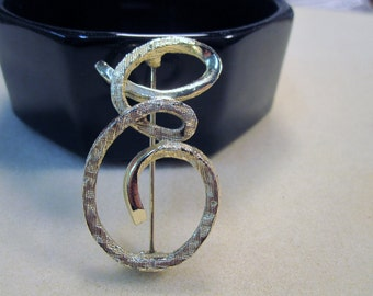 The Letter E Brooch in Silver    No.112