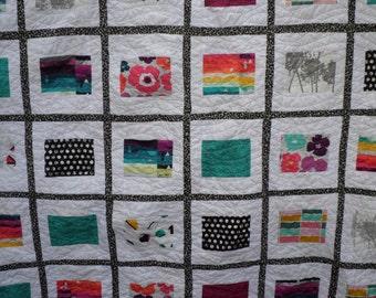 Avant Garde Modern Queen Quilt - Art Gallery Fabrics