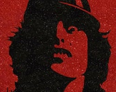 Angus Young of AC/DC Inspired 80s Heavy Metal Glitter Art •  Classic Rock and Roll Band Home Decor •  ac dc Rock Music Gift (CLEARANCE)