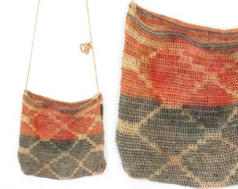 Vintage Woven Pouch * Ethnic Purse * Small Shoulder Bag