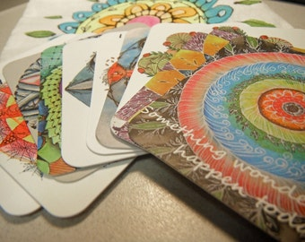 Pouch of Meditation Cards