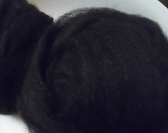 Natural Black Llama Roving