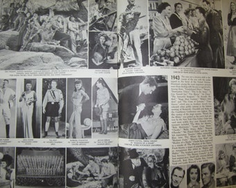 Vintage Book A Pictorial History of the Talkies 1000s Photos of Movie Stars