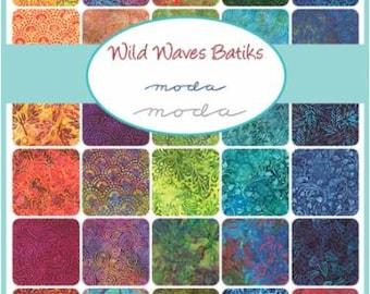 Wild Waves Batiks Layer Cake- Ten Squares