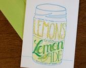 Lemons to Lemonade Card  ST131