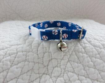 Baseball Cat  Breakaway Collar Custom Made