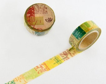 Springtime Chamil garden washi tape 15mm x 10M