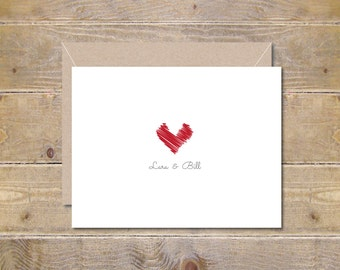 Wedding Thank You Cards, Thank You Cards, Summer Weddings, Hearts, Bridal Shower Thank You Cards, Thank You Notes, Affordable Wedding