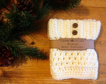Boot Topper/Cuff Ivory