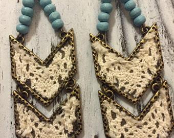 Western Lace Earrings