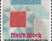 Tis The Season Quilt Doodle Designs May's Block 2016