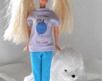 T SHIRT Barbie or Mini Dress or Pajama Top Barbie Fashion 11 in dolls