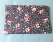 Mini Tissue Case - Patriotic - Stars - Flag - LOTS of Sparkle