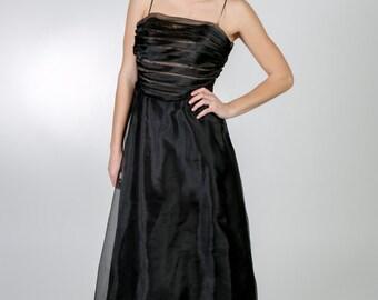 Midi Wedding Dress Homecoming Dress Midi Prom Dress Evening Dress Tea Length Dress Black Wedding Dress Wedding Guest Dress Black Midi Dress
