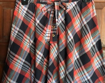 Cotton Plaid A line skirt Size small