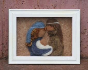 Nativity Scene /Shadowbox framed nativity