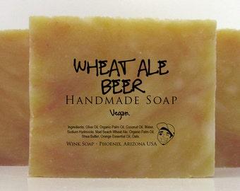 Wheat Ale Beer Handmade Soap, Vegan, Organic, 100% Natural, Essential Oils